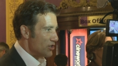 Clive Owen speaks to reporters at Shadow Dancer premiere.