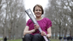 Baroness Tanni Grey-Thompson with the Paralympic torch.