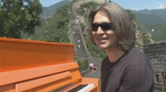 German pianist plays Great Wall of China