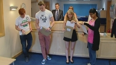 Teenagers receive their A-level results on Thursday.