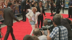 Keith Lemon flashing his boxers on the red carpet