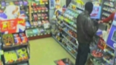 Hapless thief caught on CCTV