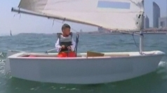 'Strictest Dad' teaches toddler son to sail solo