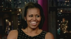 Michelle Obama talks about pet dog Bo on the Letterman show