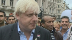 Boris Johnson speaks at Piccadilly Circus Circus