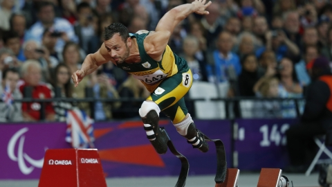 Oscar Pistorius was furious at the loss.