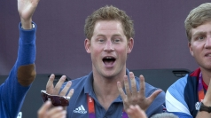 Prince Harry enjoying the Olympics.