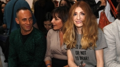 Nicola Roberts and Alexa Chung at London Fashion Week