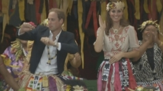 Wills and Kate in South Pacific 'dance-off'