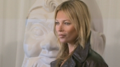 Kate Moss attends the Mulberry show