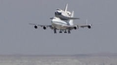 Endeavour gets a piggyback for penultimate journey