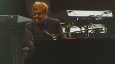 Elton John and Jude Law at UN peace concert