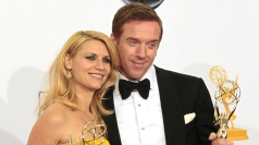 Damian Lewis and Claire Danes celebrate their wins.