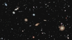 Over 5,500 galaxies were mapped in the images.