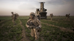 Royal Marines in Helmand (stock image).