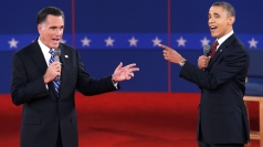 Barack Obama and Mitt Romney's second presidential debate