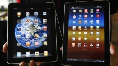 Similar? An iPad, left, and Galaxy Tab, right.