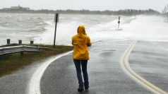 Hurricane Sandy leads to flooding on the US East Coast.