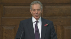 Tony Blair gives rare speech on Iraq