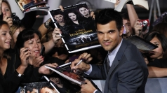 Taylor Lautner at the final Twilight premiere.