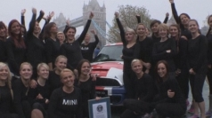 How many women can you fit into a Mini?