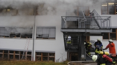 The workshop in Germany ablaze.