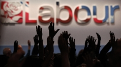 Delegates vote during 2011 Labour Party conference.