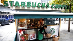 Starbucks coffee kiosk in London
