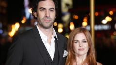 Sacha Baron-Cohen and wife Isla Fisher at the premiere.