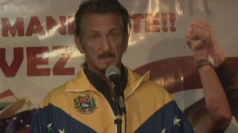 Sean Penn at vigil for Venezuelan President Hugo Chavez