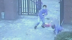 CCTV of China school knife attack