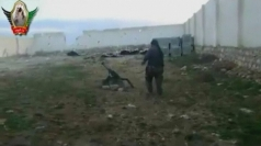 Syrian rebels fire missiles at government forces