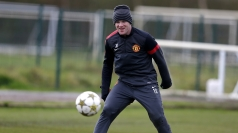 Wayne Rooney in training