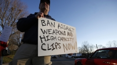 Anti-gun protester in Connecticut.