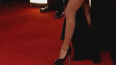 Golden Globes: Eva Longoria's bare leg does an Angelina
