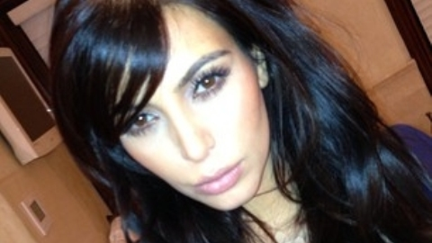 Kim Kardashian shows off new 'bangs'