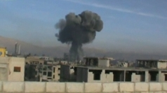 Syria: Amateur video of Assad's air strikes