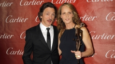 Helen Hunt with The Sessions co-star John Hawkes