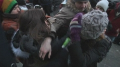Gay 'kissing protest' at Russian parliament ends in violence