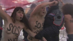 Topless protest: Femen campaigners target the Davos summit