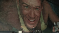Time lapse of Bruce Willis Die Hard mural