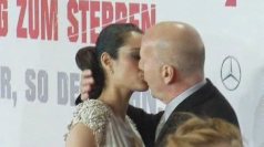 Bruce Willis gets steamy with his wife on the red carpet