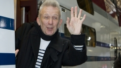 Fashion designer Jean Paul Gaultier revamps a train in Paris