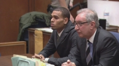 Rihanna supports Chris Brown as he makes court appearance