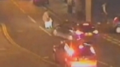 CCTV of woman and toddler hit by car - both survive