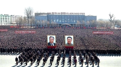 North Korea mass rallies: Kim Jong-un's soldiers rally