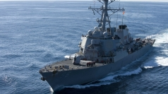 US positions warship off Korean coast