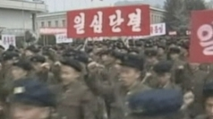 Mass rallies in North Korea against the US and South Korea