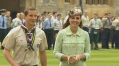 The Duchess was escorted by adventurer Bear Grylls.