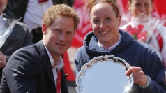 Prince Harry at the London Marathon